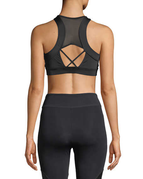 Melusine Zip-Front Sports Bra