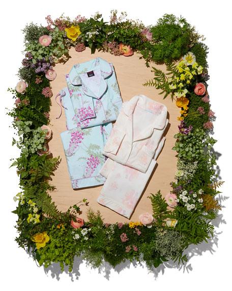 Aquarela Floral-Print Classic Pajama Set