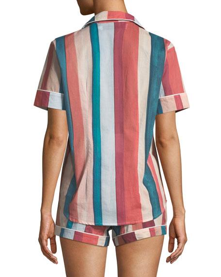 Striped Shorty Pajama Set