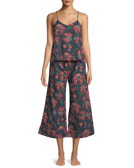 Desmond & Dempsey Floral-Print Camisole Pajama Set