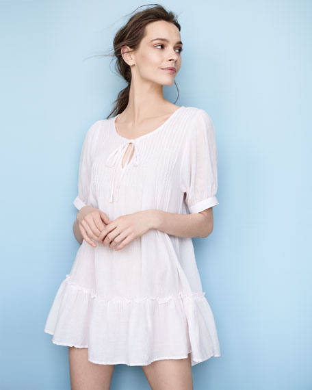 Pour Les Femmes Soft Pintucked Nightgown
