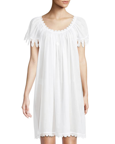 Aphrodite Cap-Sleeve Chemise