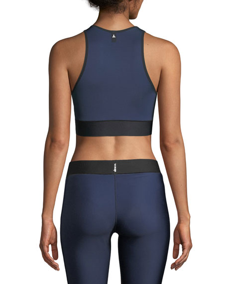Altitude Matte Collegiate Crop Top