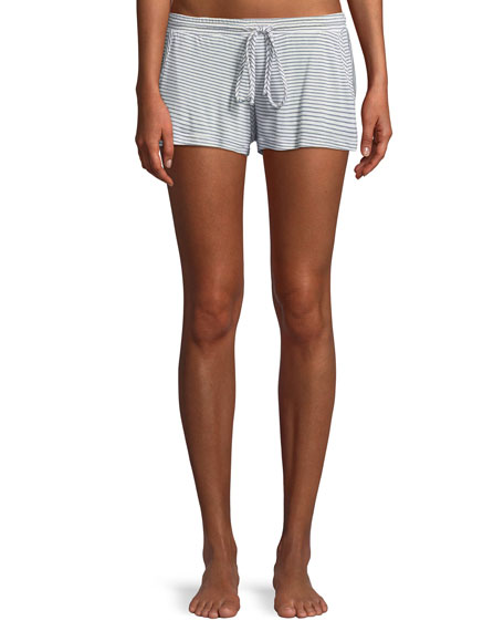 Georgie Striped Basic Lounge Shorts