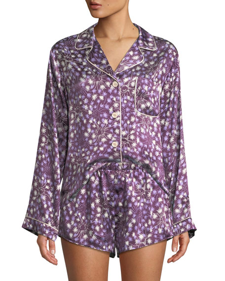 Morgan Lane Dandelion Jayne Silk Pajama Top and
