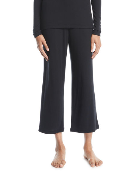 Skin Noelle Jersey Cropped Pants, Black