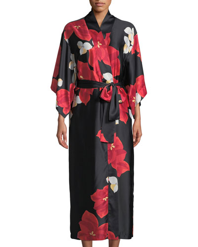 Ginza Floral Long Robe