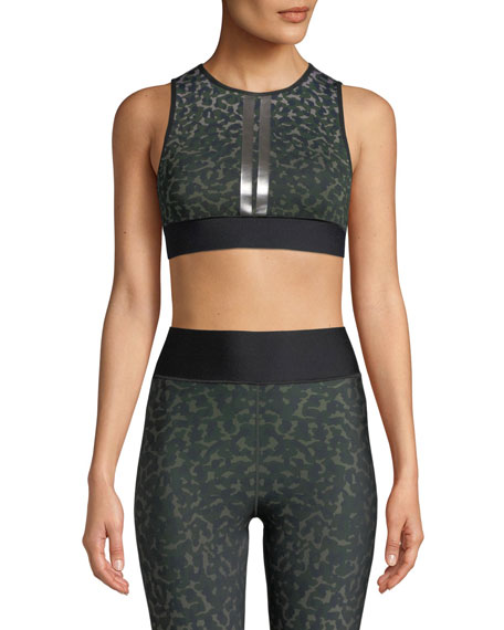 Level Leo Camo Crop Top in Leopard