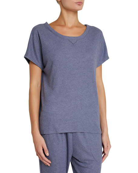 Eberjey Mina Tranquil Short-Sleeve Lounge Top