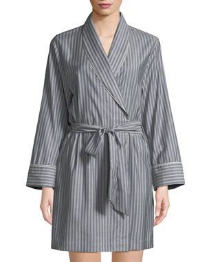 c83b201a28f Morpho + Luna Alix Striped Wool Short Robe