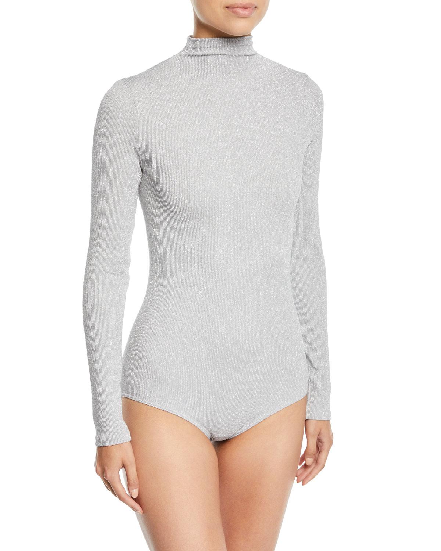 832ec673e5 Wolford Joan Turtleneck Metallic Bodysuit