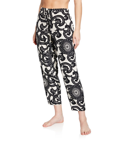 Silk Road Graphic Lounge Pants in Multi Pattern