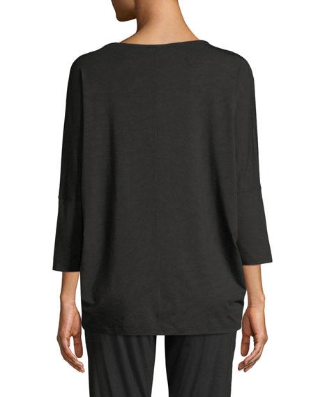 Zimmerli Poetic Botanical 3/4-Sleeve Lounge Shirt