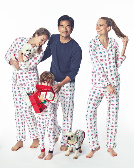 17fd1fc778 Bedhead Men S Holiday Snowflake Classic Pajama Set In White Pattern ...