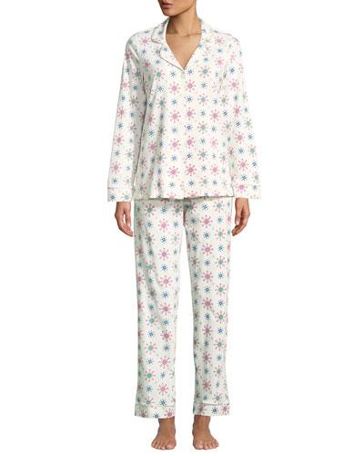Men's Holiday Snowflake Classic Pajama Set