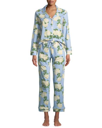 Hydrangea Classic Pajama Set  Plus Size