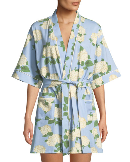 Hydrangea Short Robe in Multi Pattern