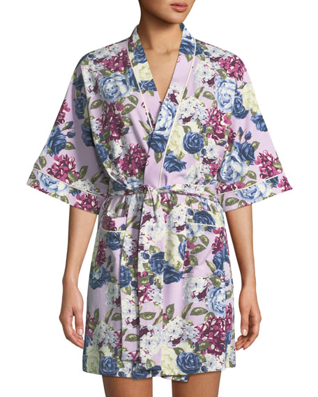 Bedhead FLORAL JEWELS SHORT ROBE