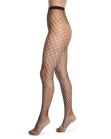 Wolford Bobbi Large-Net See-Through Tights
