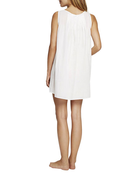 Pour Les Femmes Sleeveless Pintuck Short Nightgown