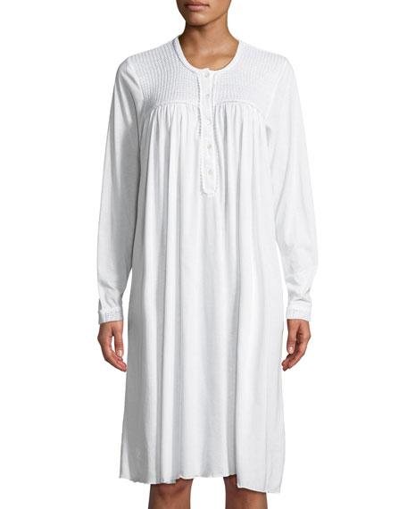 P Jamas Begoa Long-Sleeve Short Nightgown