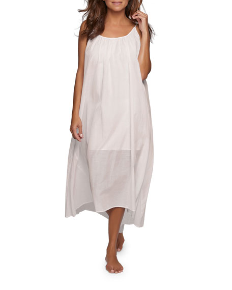 Pour Les Femmes Double-Layered Sleeveless Nightgown