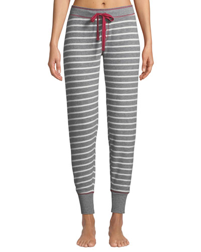 On Holiday Striped-Jersey Jogger Pants