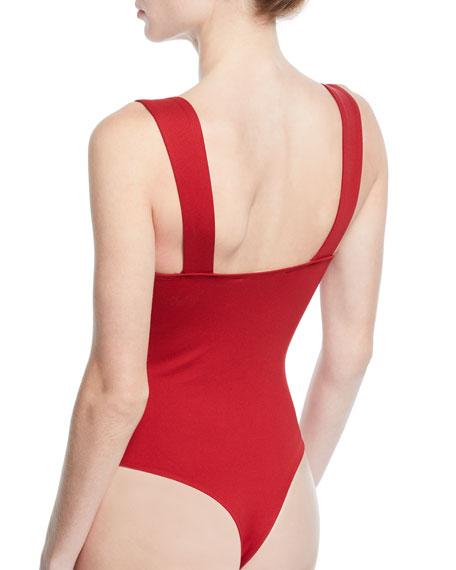 ASTR Nellie Square-Neck Bodysuit