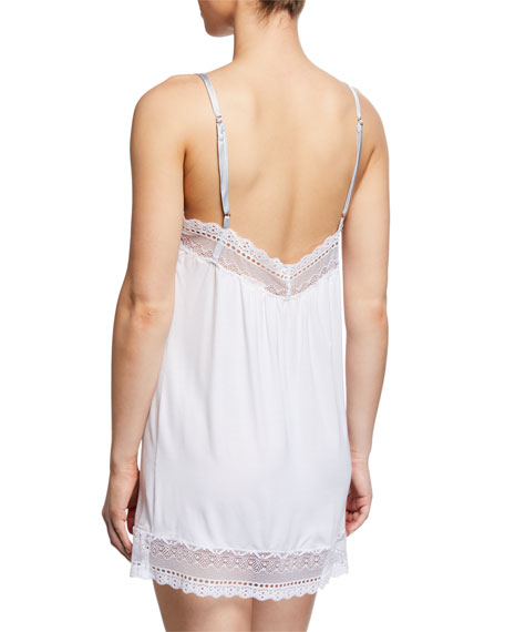 Eberjey Lucie Sweetie Lace-Trim Chemise