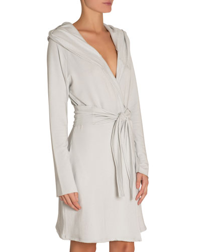 Odile Hooded Short Robe