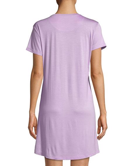 Derek Rose Carla Short-Sleeve Sleep Shirt