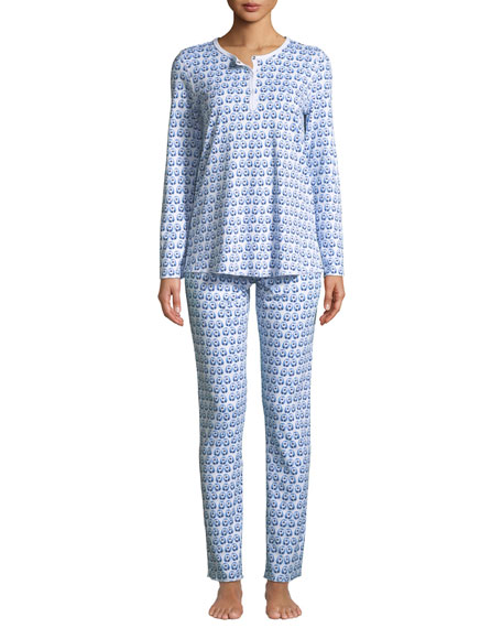 Roller Rabbit Love Birds Classic Pajama Set