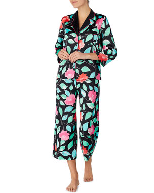 e76565d03b9 kate spade new york garden classic crop pajama set