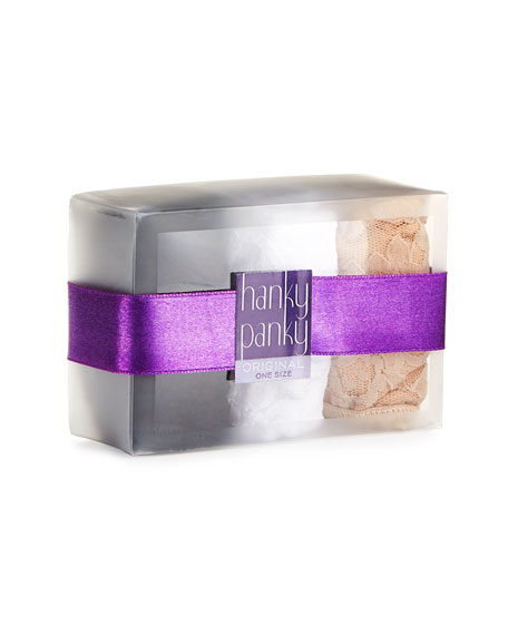 Hanky Panky Three-Pack Original-Rise Signature Lace Thong