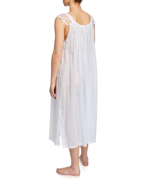 Celestine Bettina Sleeveless Nightgown with Lace Trim