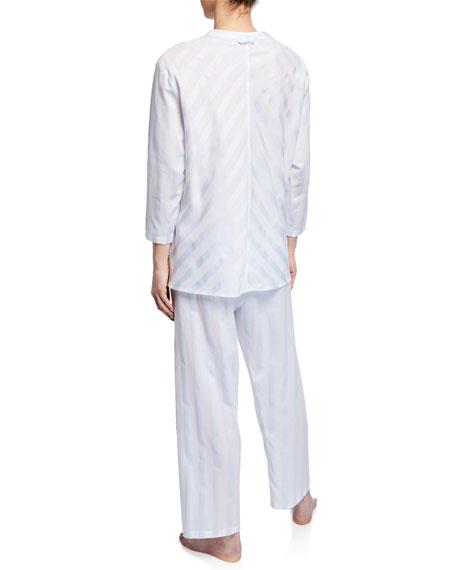 Celestine Daliah Cropped Celestine Satin Striped Two-Piece Pajama Set