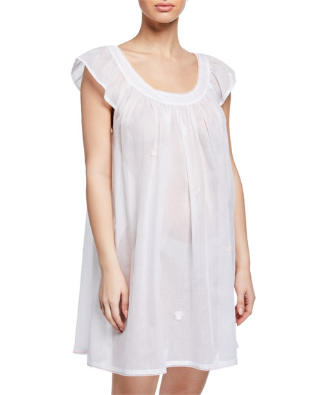 Celestine Saphira Scoop-Neck Cap-Sleeve Babydoll Nightgown