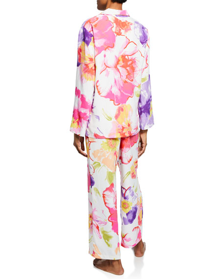 Natori Soleil Floral-Print Pajama Set