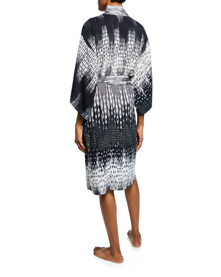 Natori Cozumel Graphic-Print Robe