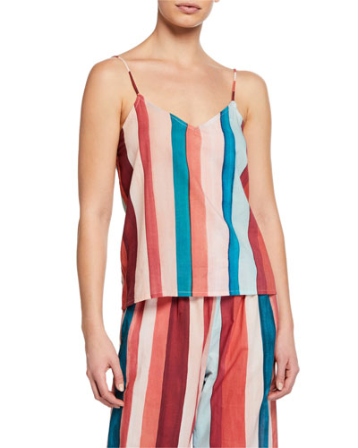 Striped Cotton Lounge Camisole