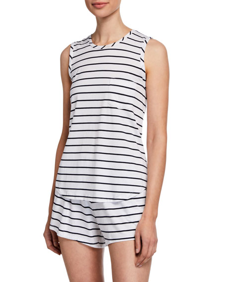 Skin Ashlyn Striped Lounge Shorts
