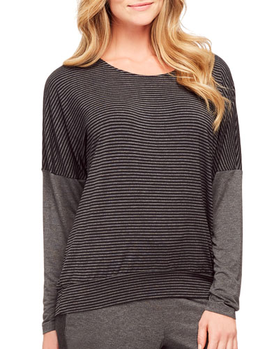 Casual Perfection Striped Lounge Top
