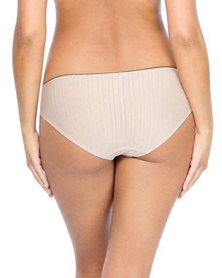 Parfait Aline Contrast-Trim Bikini Briefs, Nude