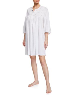 cb6409f0d P Jamas Lisa 3 4-Sleeve Cotton Nightgown