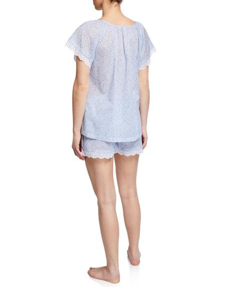 P Jamas Nansu Floral Short Pajama Set