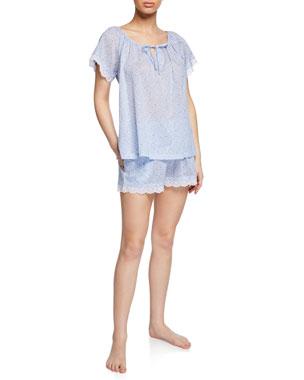 63466c07a P Jamas Nansu Floral Short Pajama Set