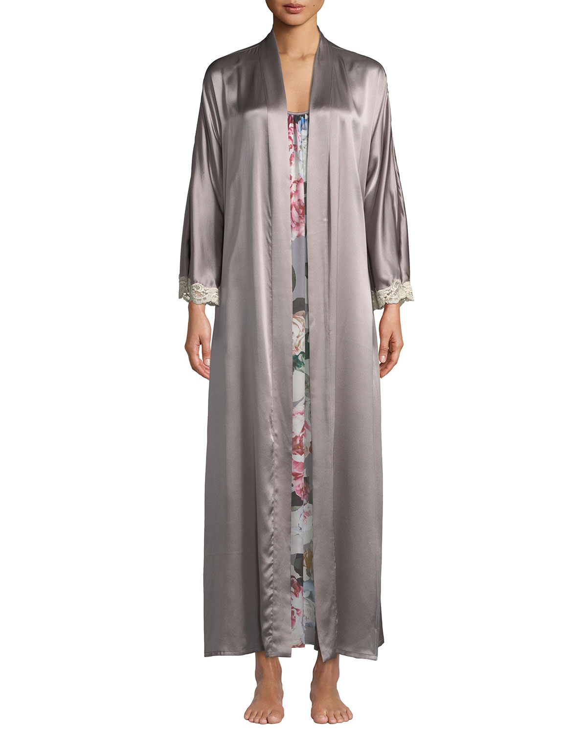 Christine Lingerie Bijoux Long Silk Robe  1d83fff88