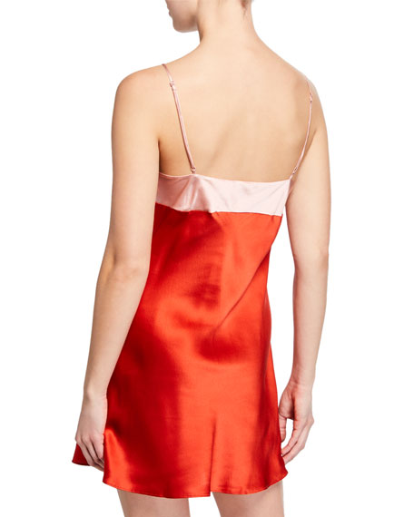 Ginia Wide Band Silk Chemise