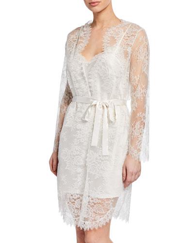 Art et Volupte Short Lace Robe