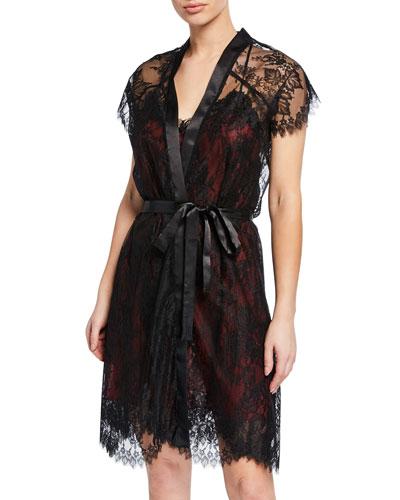 Ecrin Desir Short Lace Robe